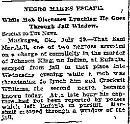 Sam Marshall Crockett Williams Dallas Morning News Historical Archive 07311914-page-001