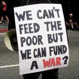 feed poor or war